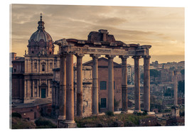 Akrylglastavla  The Roman Forum at sunrise