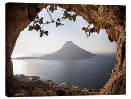 Canvastavla  Rock climber on Kalymnos Island