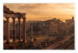 Premiumposter Rome : the Temple of Saturn