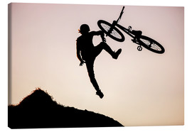 Canvastavla  bike jump