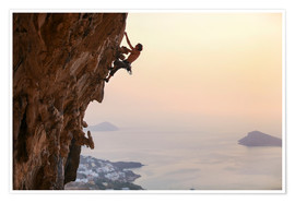 Premiumposter Climber on Kalymnos - Greece