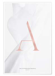 Premiumposter ROSE GOLD LETTER COLLECTION A
