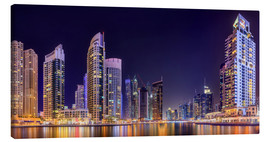 Canvastavla  Panoramic view - Dubai Marina Bay