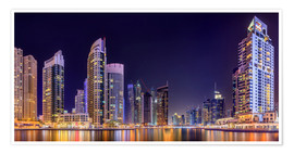 Premiumposter Panoramic view - Dubai Marina Bay
