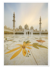 Premiumposter  Courtyard of Sheikh Zayed Grand Mosque