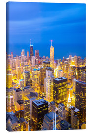 Canvastavla  Chicago City at night