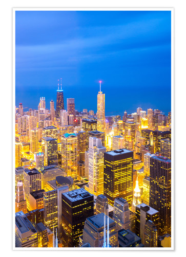 Premiumposter Chicago City at night
