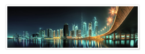 Premiumposter Panoramic view - Dubai Business Bay