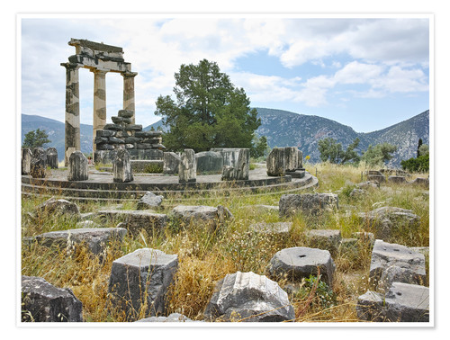 Premiumposter Athena Pronaia Sanctuary - site of Delphi