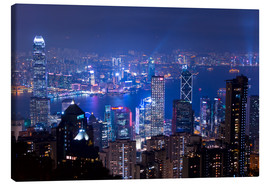 Canvastavla  View of Hong Kong from Victoria Peak