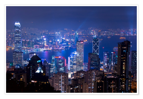 Premiumposter View of Hong Kong from Victoria Peak