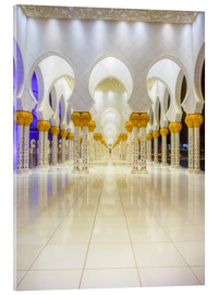 Akrylglastavla  Sheikh Zayed Grand Mosque