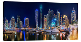 Canvastavla  The fascination of Dubai Marina Bay