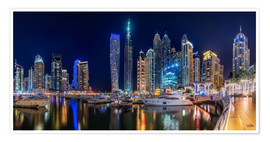 Premiumposter The fascination of Dubai Marina Bay