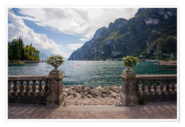 Premiumposter Lake Garda in the summer