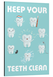 Aluminiumtavla  Keep your teeth clean - Kidz Collection