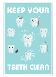 Premiumposter  Keep your teeth clean - Kidz Collection