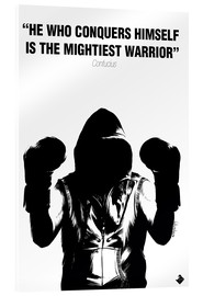 Akrylglastavla  WARRIOR Motivational Quotes - Paola Morpheus