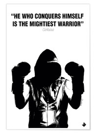Premiumposter WARRIOR Motivational Quotes