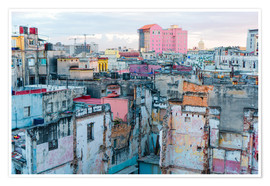 Premiumposter  Authentic view of a street of Old Havana