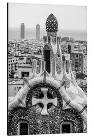 Aluminiumtavla  Impressive architecture and mosaic art at Park Guell