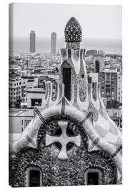 Canvastavla  Impressive architecture and mosaic art at Park Guell
