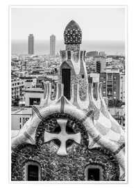 Premiumposter  Impressive architecture and mosaic art at Park Guell