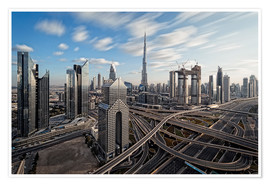 Premiumposter Dubai City Long Exporsure