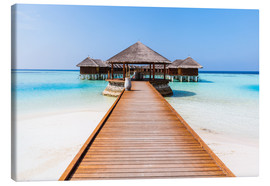 Canvastavla  Jetty and overwater bungalows, Maldives - Matteo Colombo