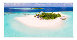 Premiumposter  Aerial view of island in the Maldives - Matteo Colombo