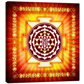 Canvastavla  Sri Yantra Energy Light - Dirk Czarnota
