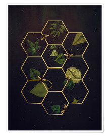 Premiumposter  bees in space - Sybille Sterk