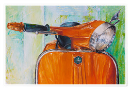 Premiumposter Vespa orange