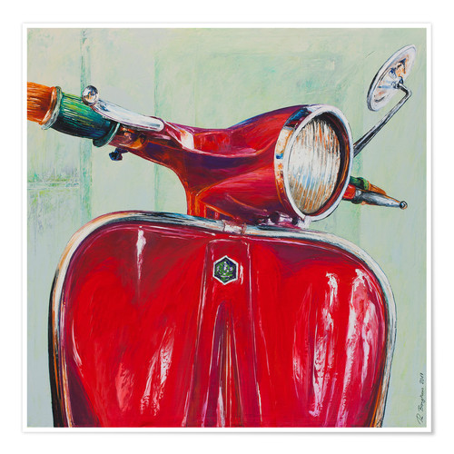 Premiumposter Vespa red