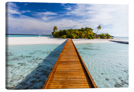 Canvastavla  Jetty to tropical island, Maldives - Matteo Colombo