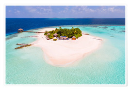 Premiumposter  Drone view of paradise island, Maldives - Matteo Colombo