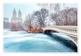 Premiumposter  Central Park Winter, Bow Bridge - Sascha Kilmer