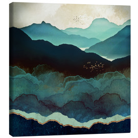 Canvastavla  Indigo Mountains - SpaceFrog Designs