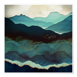 Premiumposter  Indigo Mountains - SpaceFrog Designs