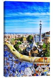 Canvastavla  Park Guell in Barcelona