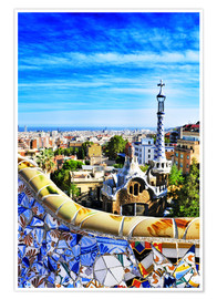 Premiumposter  Park Guell in Barcelona