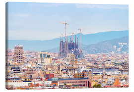Canvastavla  Barcelona with the Cathedral of Gaudí