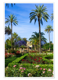 Premiumposter  Gardens of the Museum of Seville
