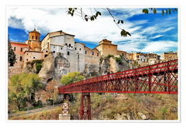 Premiumposter  Cuenca,view with bridge