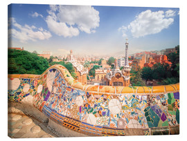 Canvastavla  The Park Guell in Barcelona