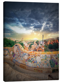 Canvastavla  The famous park Guell in Barcelona