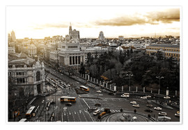 Premiumposter The city of Madrid in Spain