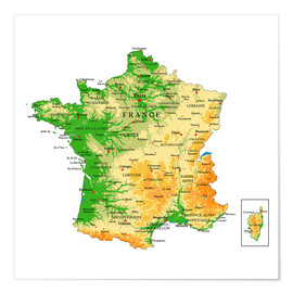 Poster  Map of France