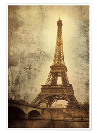 Premiumposter  Eiffel tower
