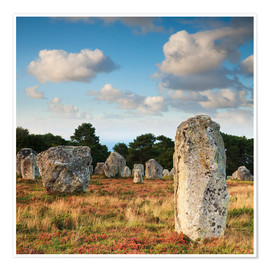 Premiumposter  Megaliths in Carnac